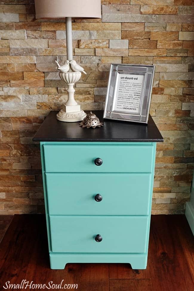 Aqua bedside table