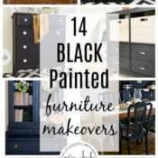 14 Black Painted Furniture Makeovers (classic elegance)
