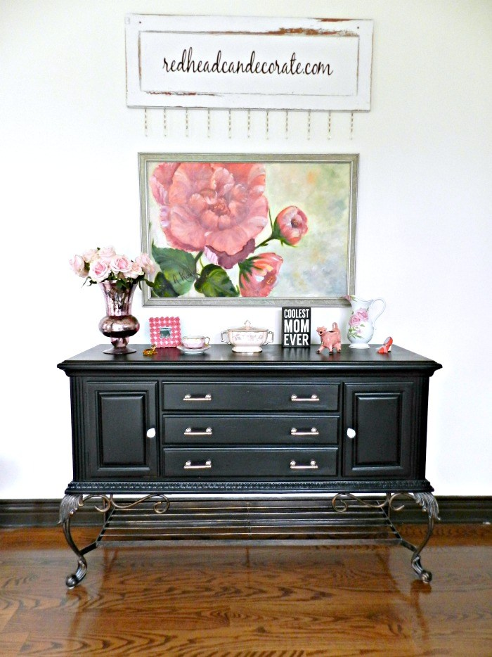 14 black painted furniture pieces ...classic elegance, ideas and inspiration for your next makeover! artsychicksrule.com #blackpaintedfurniture #blackfurnituremakeovers #blackfurniture