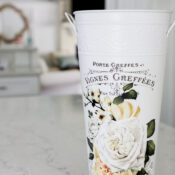 $2 French Floral Bucket Makeover (ReDesign with Prima Transfer)