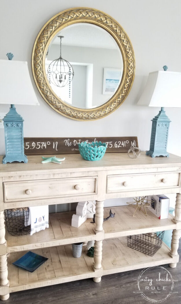 Thrifty decor, budget decorating at its best. Old thrift store prints (with beautiful frames) for cheap...turned awesome new wall art for your home. Simply! artsychicksrule.com #thriftstoremakeovers #oldprints #beachwallart