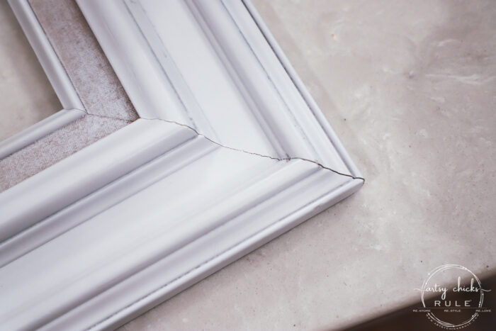 seams in the frame before caulk