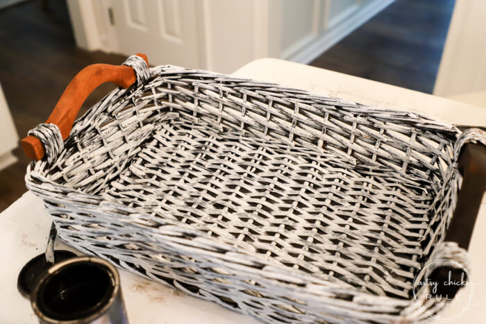 Old tired baskets?? Add a little paint for a brand new look. Here are several simple basket makeover ideas to get started! artsychicksrule.com #basketmakeoverideas #paintedbaskets #basketmakeover