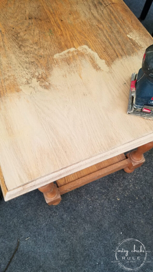 """Turn that old orange wood into """"bleached or weathered"""" wood with this simple method!! (without harsh chemicals) artsychicksrule.com #bleachedwood #howtobleachwood #weatheredwood"""