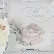 Pink Rose Tray Makeover (with Prima transfer)