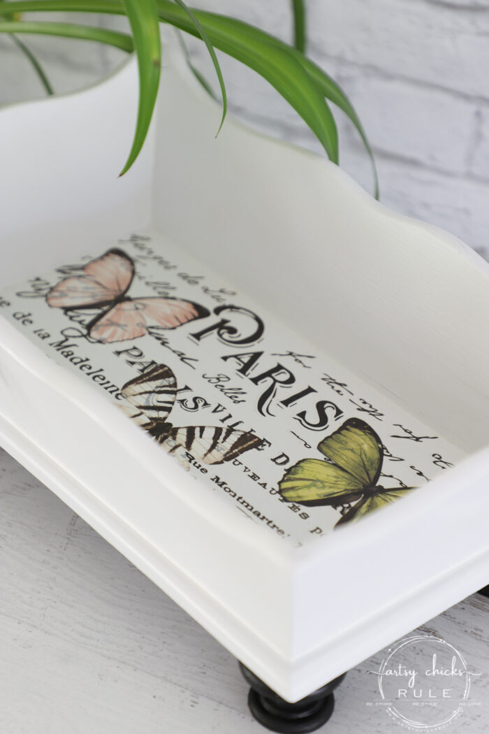white butterfly box