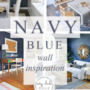 Navy Blue Wall Inspiration (the best blue colors)