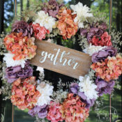 Rust, Ivory & Plum Fall Wreath
