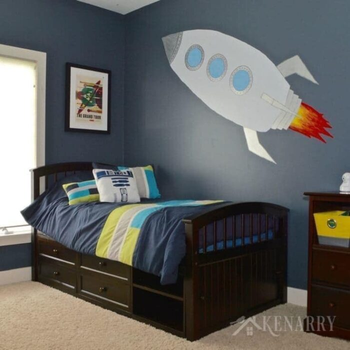 Navy Blue wall inspiration! Accent walls or whole rooms. artsychicksrule.com #navywalls
