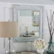 Whitewashing Painted Wood Mirror