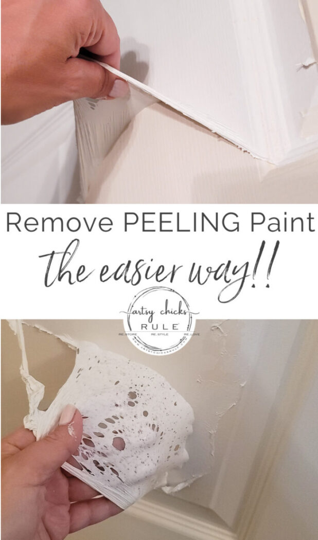 Is peeling paint a problem for you? Well, I might have the answer...read on! artsychicksrule.com #peelingpaint