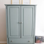 French Eggshell Fusion Armoire