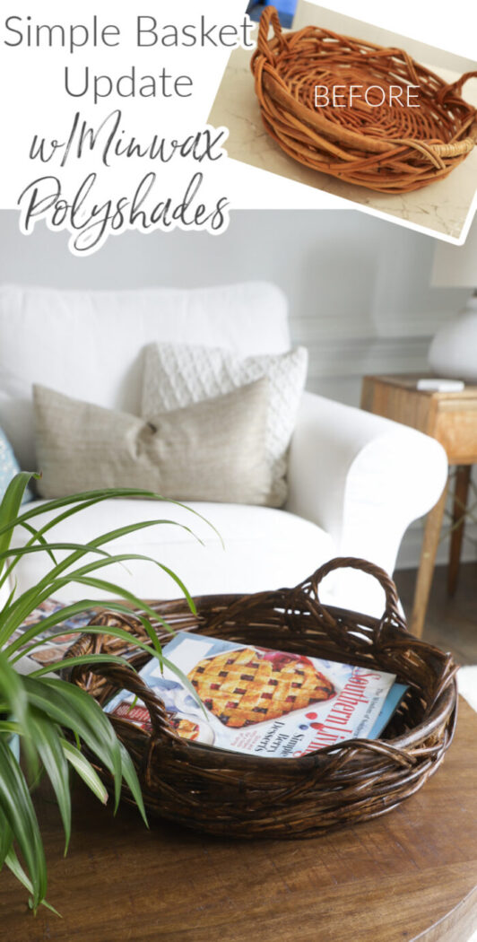 Polyshades basket makeover...SO simple, quick, and a fun way to give your old baskets new life! artsychicksrule.com