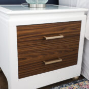 Wood Grain Vinyl Wrap Nightstand Makeover
