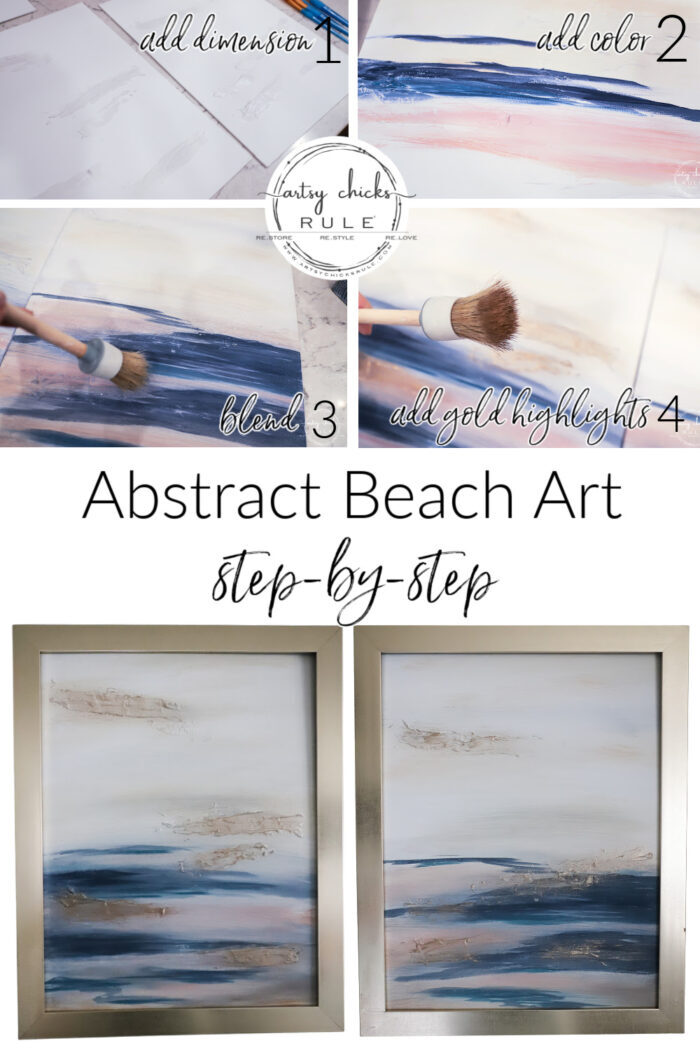 Abstract beach art step by step pin