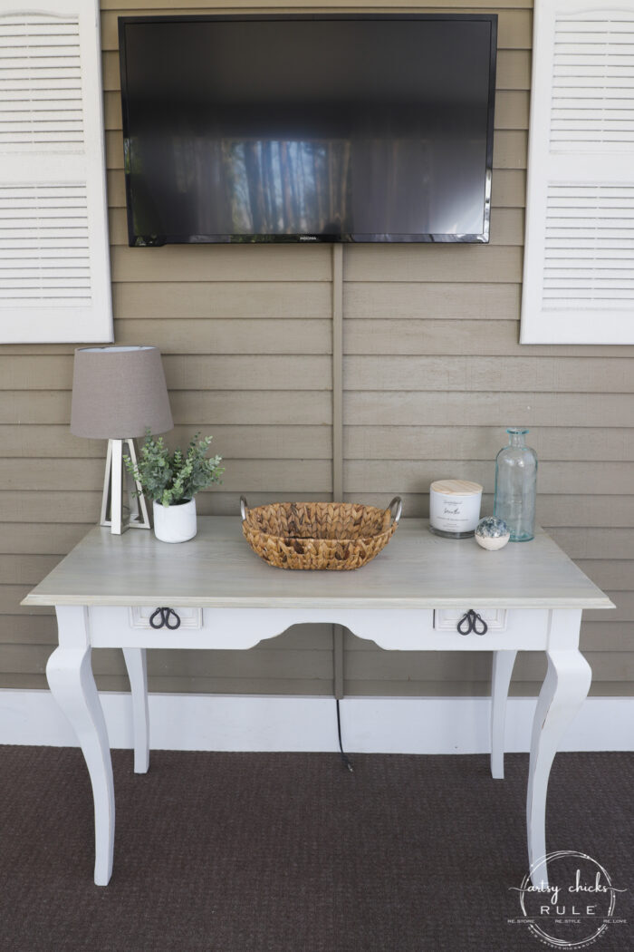 console table styled while turned right side out