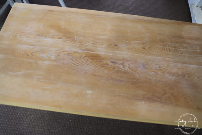 console table top after sanding