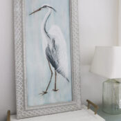 DIY Blue Heron Painting