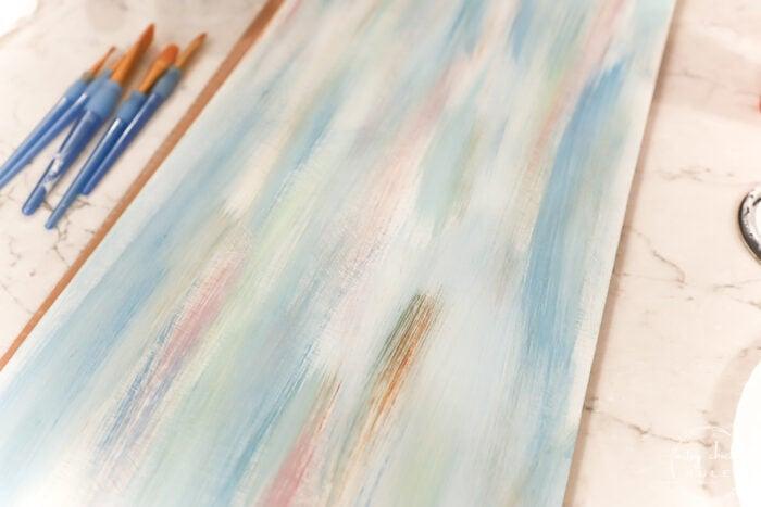 multi color strokes on white board