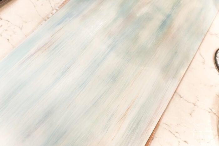 multi color strokes on white board blended