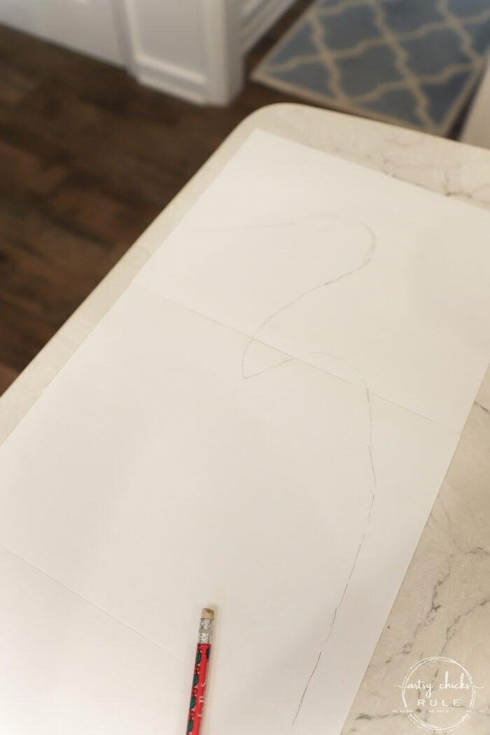 pencil sketch of blue heron