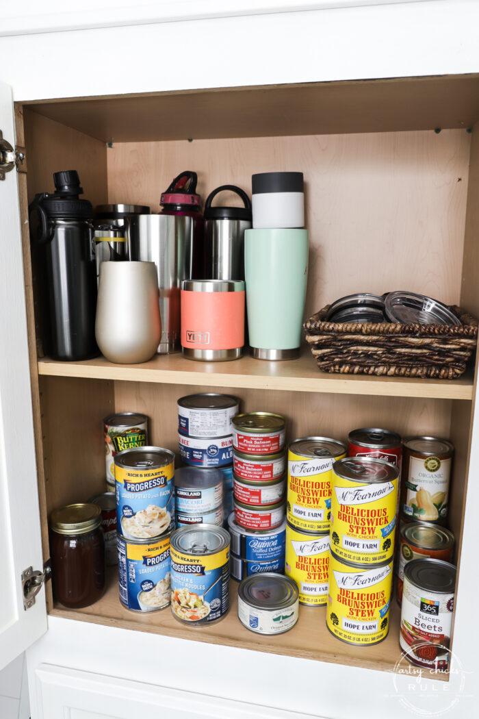 Yetis, tumblers, lids and soup cans