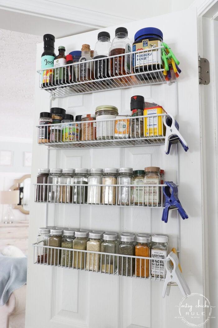 pantry closet door shelves for condiments
