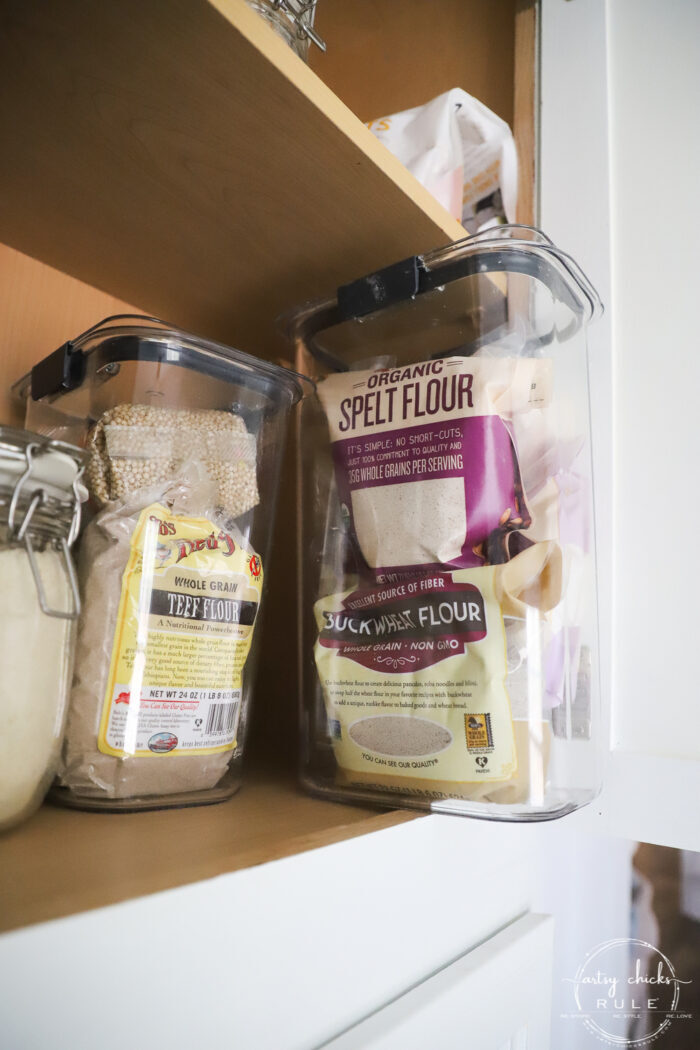 see through food storage containers for small food items