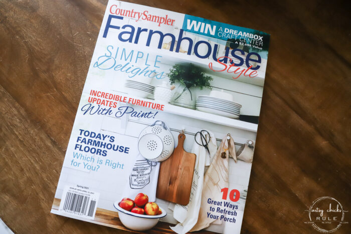 magazine feature -artsychicksrule - country sampler farmhouse style