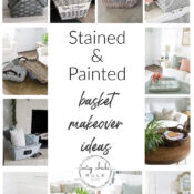 Stained & Painted Baskets (makeover ideas!)