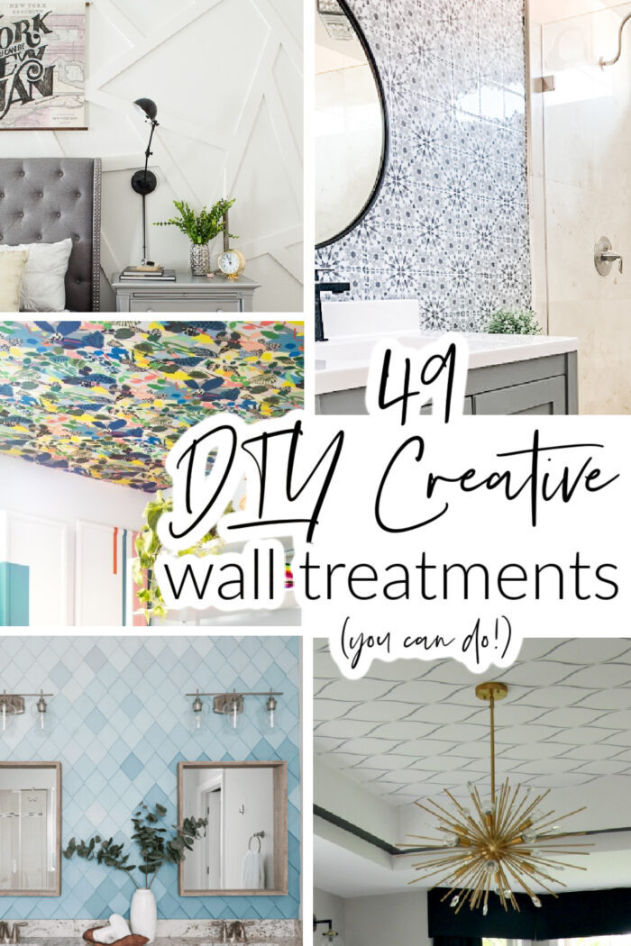 49 DIY super creative and decorative wall treatments that you can do! Wood, peel & stick wallpaper, regular wallpaper, painted ideas & more! artsychicksrule.com