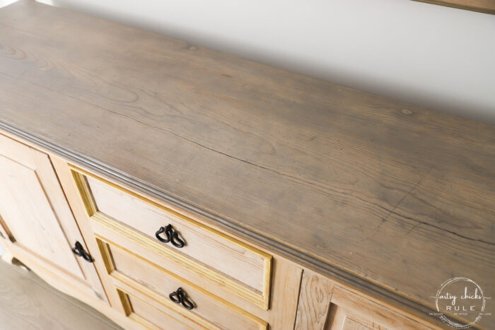 driftwood stained top