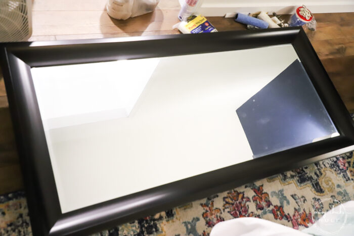 floor mirror before laying down to be painted