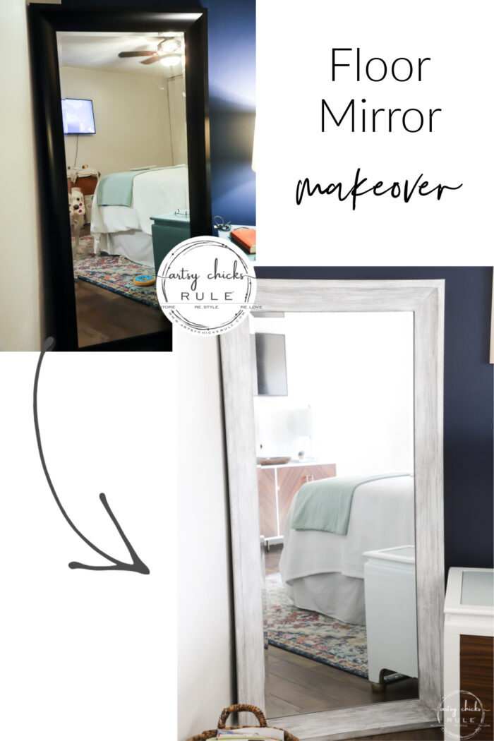 A little paint for a brand new look with this floor mirror transformation! artsychicksrule.com