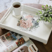 Floral Tray Makeover (with transfer)