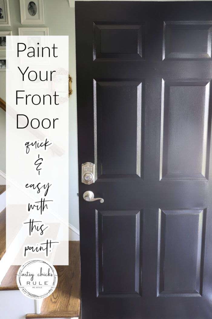 Front door looking tired? Paint your front door...with this paint. So quick and easy! artsychicksrule.com