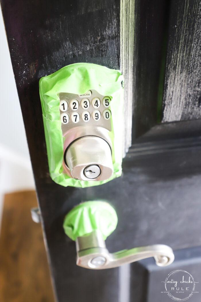 taping around metal hardware