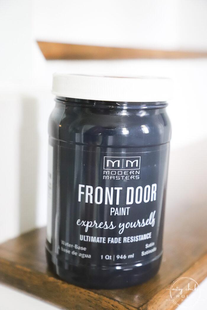 Modern Masters Front Door Paint Jar in Black