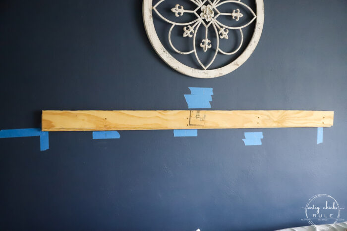 french wood cleat on wall in studs