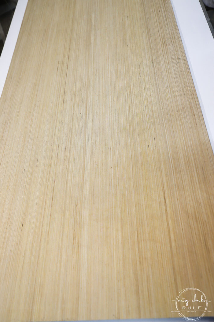 unfinished wood panel