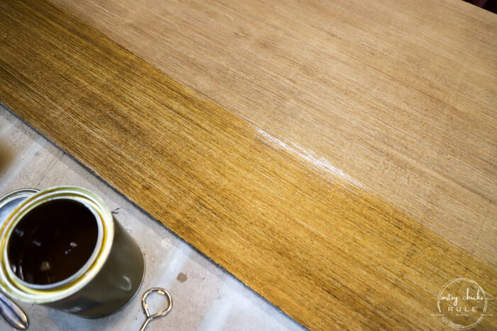 half wood panel with poly
