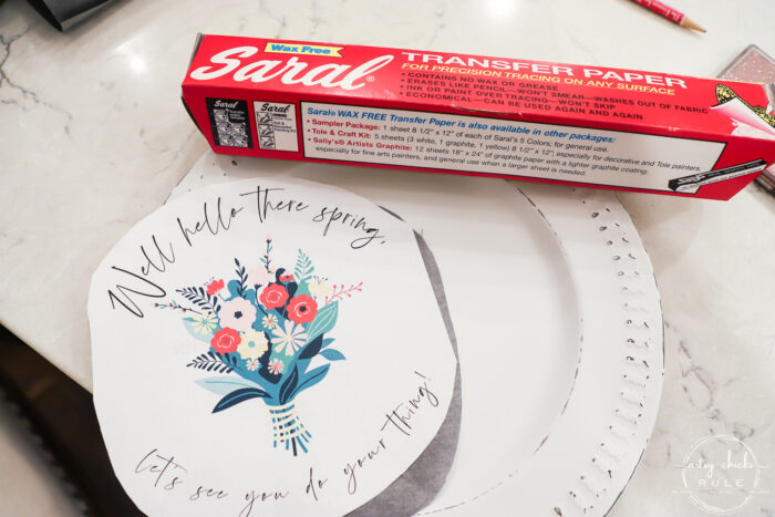 saral transfer paper and spring printable