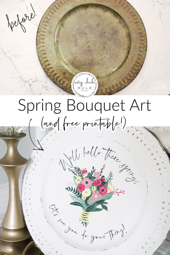 Spring bouquet printable... perfect printable for totes, pillows, or just pop it in a frame and go! artsychicksrule.com