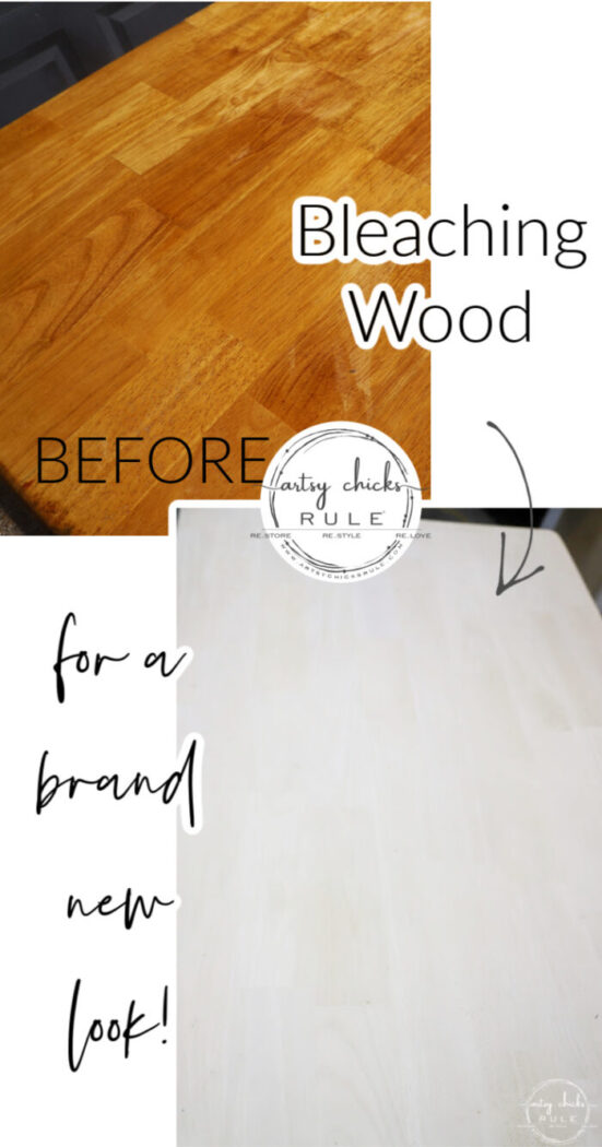 Bleaching wood (orangey or dark) for a brand new look! Simpler than you think...you can do this. (and my little trick bumps it up a notch!) artsychicksrule.com