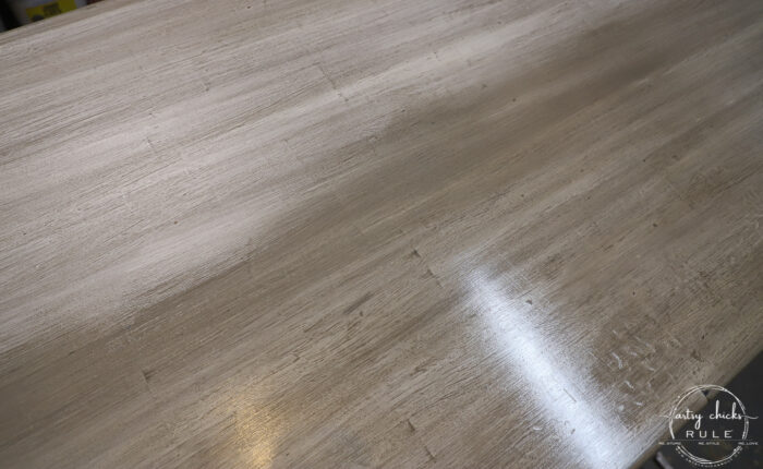 painted weathered wood look tabletop