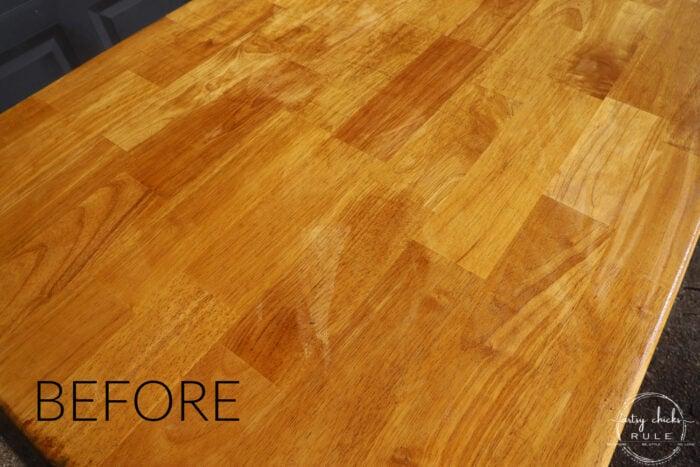tabletop orange wood