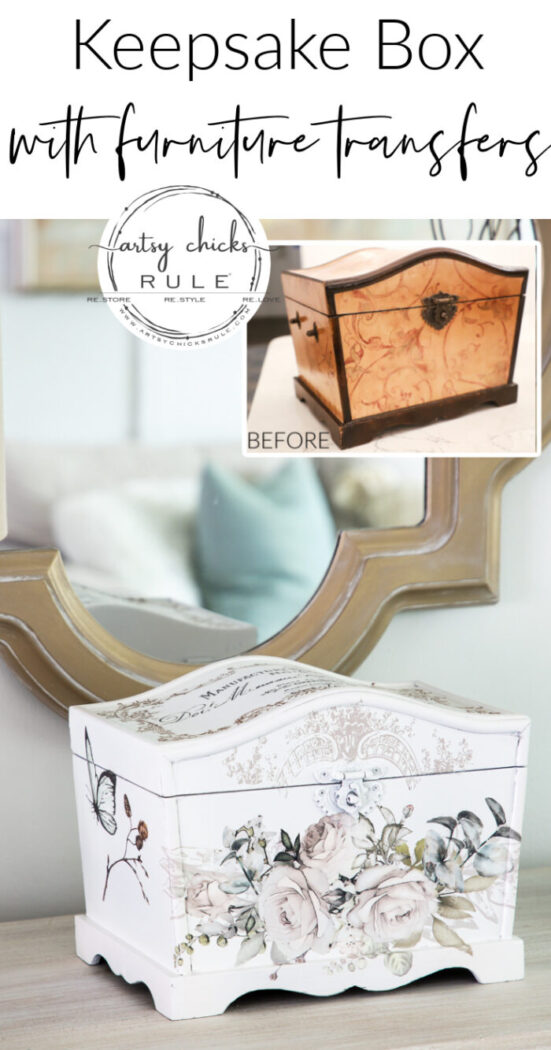 This sweet treasures box is made even sweeter with pretty furniture transfers. So simple to add such beauty! artsychicksrule.com