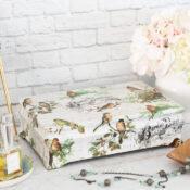 Bird Paper Decoupage Jewelry Box Makeover