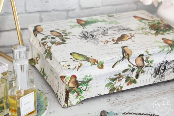 styled and finished bird jewelry box
