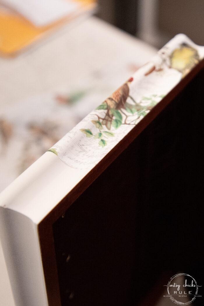 up close edge of paper